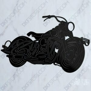 1950 Harley Davidson Panhead With Hydra-Glide Front Fork DXF For Waterjet