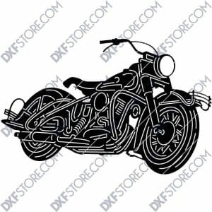 1950 Harley Davidson Panhead With Hydra-Glide Front Fork DXF for CNC Plasma Cutter