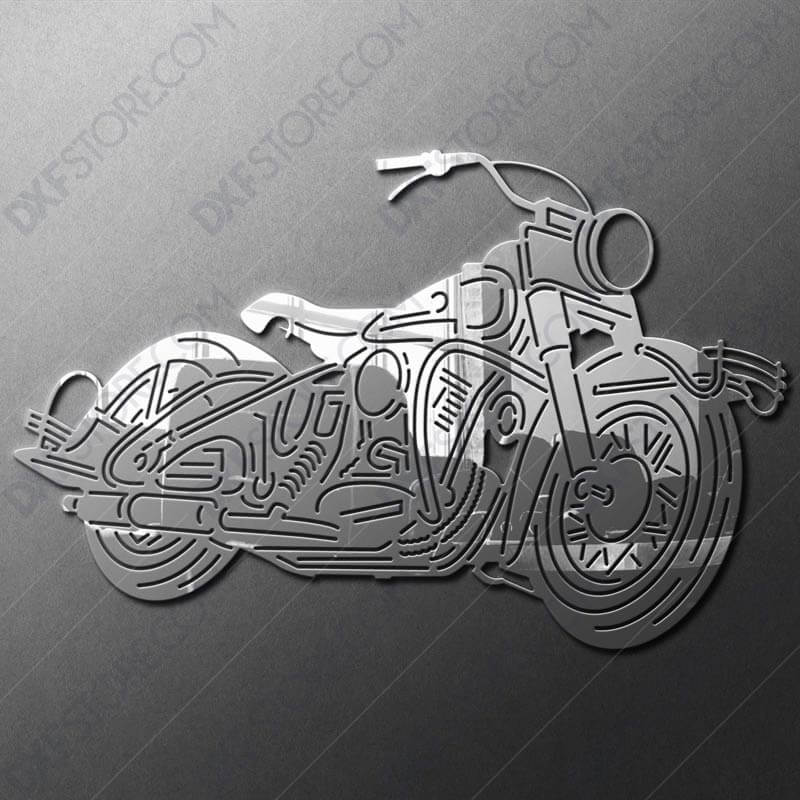 1950 Harley Davidson Panhead With Hydra-Glide Front Fork DXF for Plasma