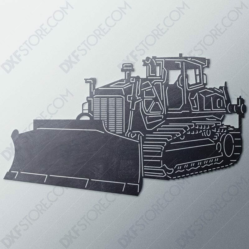 Bulldozer Heavy-duty Construction Machinery DXF File For Laser Cutter and Plasma Cutter Downloadable DXF For CNC
