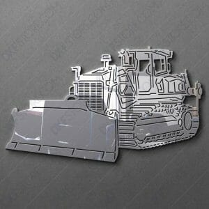 Bulldozer Heavy-duty Construction Machinery DXF File For Waterjet CNC Ready to Cut Downloadable DXF For Sale