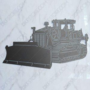 Bulldozer Heavy-duty Construction Machinery DXF File for Plasma Cutting Cut-Ready Plasma Cut DXF File Download