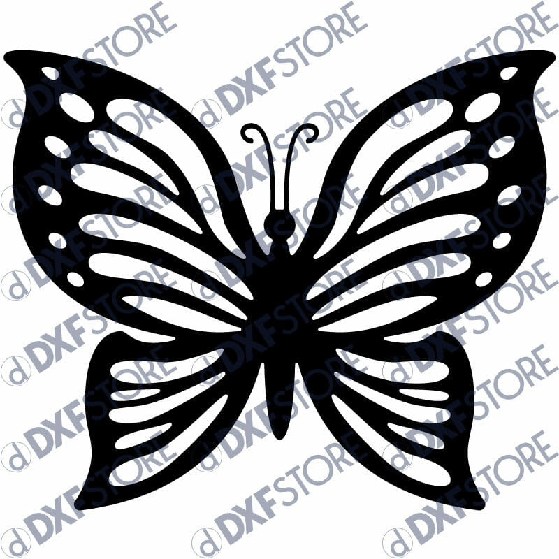Butterfly Template - Free DXF File