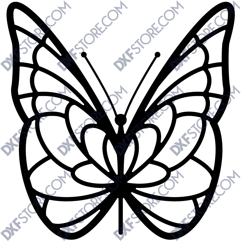 Butterfly Template Laser Cut - Free DXF File - DXF File Cut