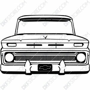 Chevy Vintage Truck Custom Order DXF File Cut-Ready Plasma Cut CNC DXF File Download for CNC Plasma and Laser Cut