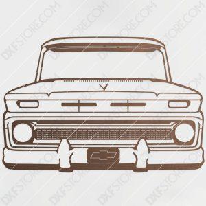 Chevy Vintage Truck Custom Order DXF File Plasma Art Metal Sign DXF Download Plasma and Laser Cutter DXF File