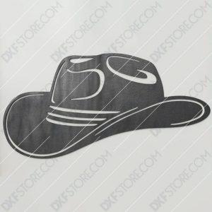 Cowboy Hat Free DXF File Plasma Art Metal Sign Plasma and Laser Cutter DXF File