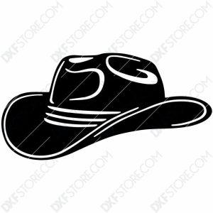 Cowboy Hat Free DXF File Plasma Art for CNC Plasma Cut Cut-Ready DXF File for CNC
