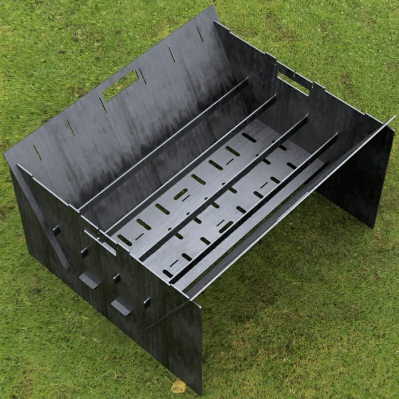 Custom Order - Fire Pit Collapsible Plancha Grill and Grill Indirect Cooking Ribs CNC Cut-Ready DXF File