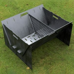 Custom Order - Fire Pit Collapsible Plancha Grill and Grill Indirect Cooking Ribs CNC DXF Files