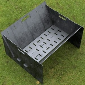 Custom Order - Fire Pit Collapsible Plancha Grill and Grill Indirect Cooking Ribs CNC File For Plasma Cut