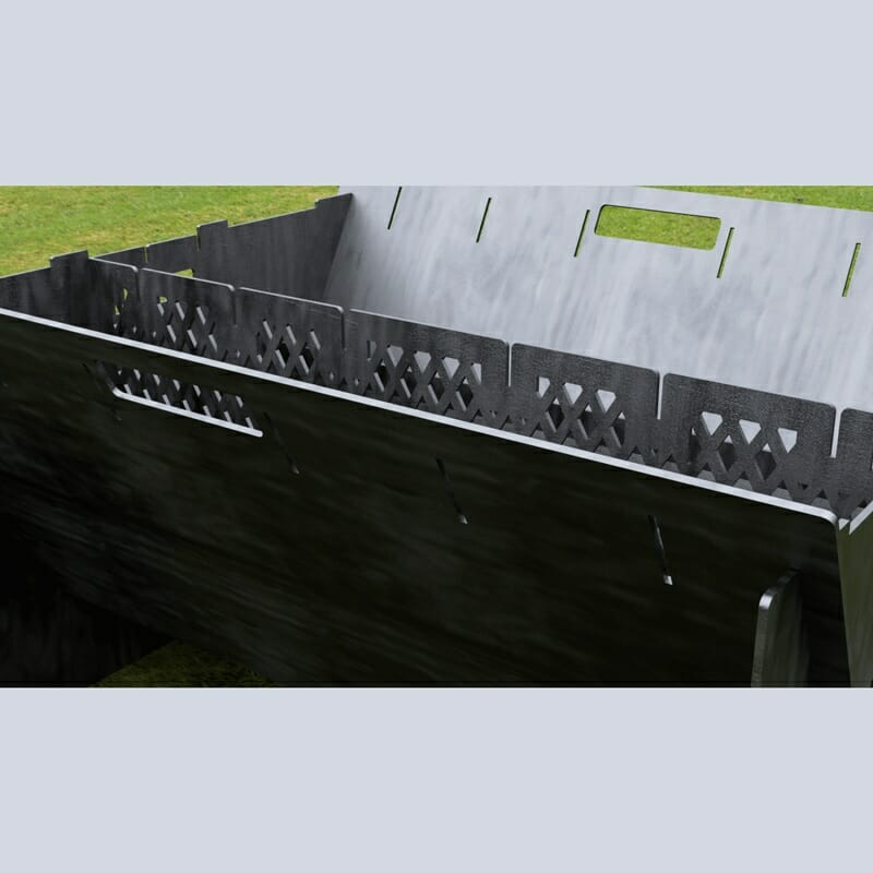 Custom Order - Fire Pit Collapsible Plancha Grill and Grill Indirect Cooking Ribs CNC plasma DXF Files