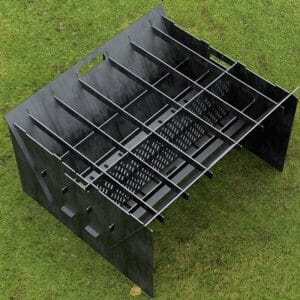 Custom Order - Fire Pit Collapsible Plancha Grill and Grill Indirect Cooking Ribs DXF File For CNC