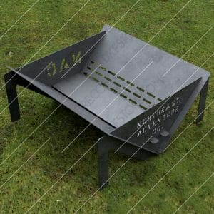 Custom Order - Fire Pit With Decorative Logo and Text on Sides Plasma Cut DXF File Cut-Ready