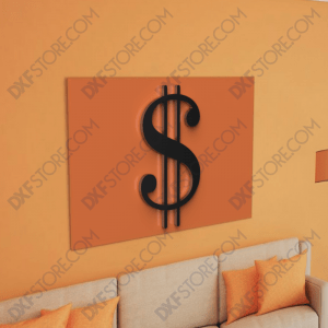 Dollar Sign Free DXF File