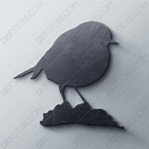 European Robin Free DXF File For Laser Cutter