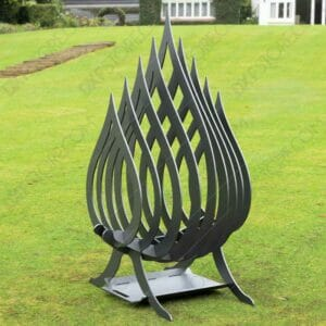 Fire Flame Fire Pit With Ash Tray Collapsible Portable Fire Pit No Welding Needed 20.5X18.5X36 CNC DXF File For Plasma Cut
