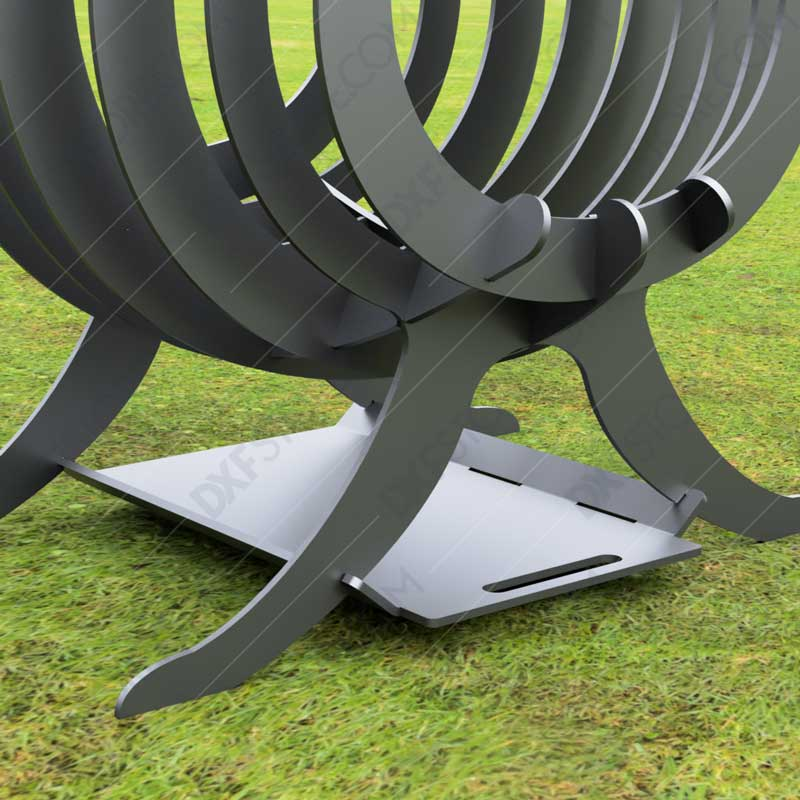 Fire Flame Fire Pit With Ash Tray Collapsible Portable Fire Pit No Welding Needed 20.5X18.5X36 For CNC Plasma Cutter