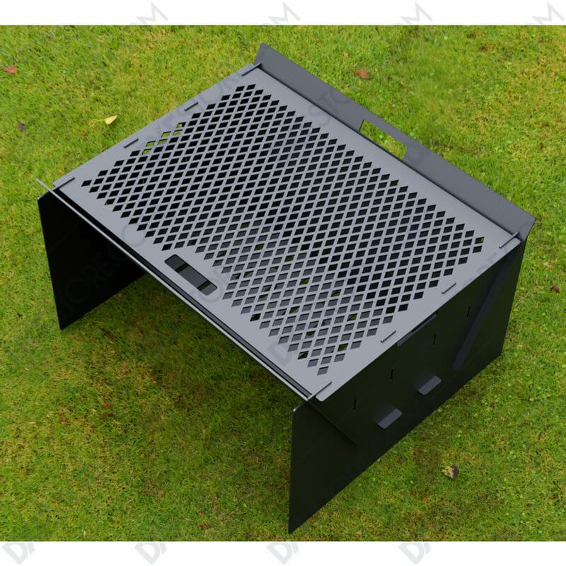 Fire Pit Collapsible Fire Pit BBQ Portable Outdoor Backyard and Camp