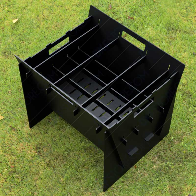 Fire Pit Collapsible Fire Pit BBQ Portable Outdoor Backyard and Camp Cooker 24Lx22Wx20H DXF Downloadable for Sale