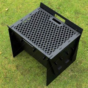 Fire Pit Collapsible Fire Pit BBQ Portable Outdoor Backyard and Camp Cooker 24Lx22Wx20H DXF File Laser Cutter