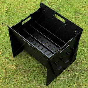 Fire Pit Collapsible Fire Pit BBQ Portable Outdoor Backyard and Camp Cooker 24Lx22Wx20H For Laser Cut DXF Download