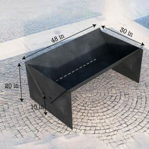 Fire Pit Collapsible Minimal Modern Portable Fire Pit 48in*30*20