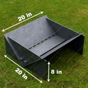 Fire Pit Collapsible Modern Minimalist Fire Pit 20*20*8 in CNC DXF Files