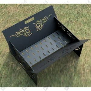 Fire Pit Collapsible Portable Ornamental Tribal Wings-1