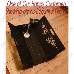 Fire Pit Collapsible Portable Ornamental Tribal Wings for CNC laser cut