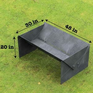 "Fire Pit Custom Design Modern Minimal Collapsible Fire Pit 48""X30X20 With Base 10 Off The Ground for Plasma Cutting"