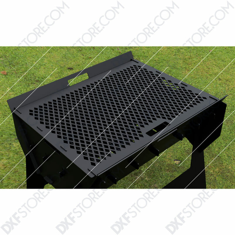 Fire Pit Portable Fire Pit Collapsible No Welding BBQ Outdoor and Camp Cooker DXF File SVG File For Laser Cut