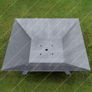 Fire Pit Square Cut-Ready Plasma Cut DXF File for CNC Plasma and Laser Cut