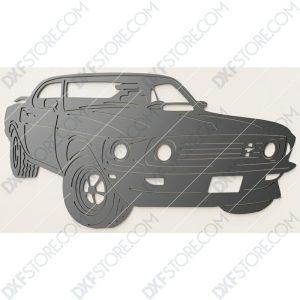 Ford Mustang 1969 Boss 429 John Wick's Car DXF File Laser Cut