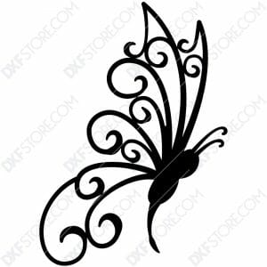 Free DXF File Butterfly Template Plasma Cut-Ready DXF File SVG File for CNC Plasma Cut