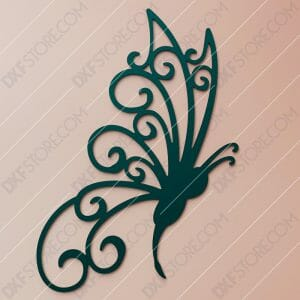 Free DXF File Butterfly Template Plasma Cut-Ready DXF File for CNC Plasma Cut