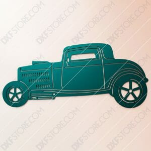 Free DXF File Hot Rod Classic Car Cut-Ready DXF File SVG File for CNC Plasma and Laser Cut