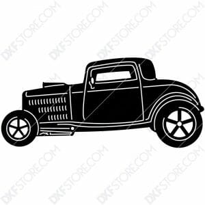 Free DXF File Hot Rod Classic Car Cut-Ready DXF File for CNC Plasma Cut