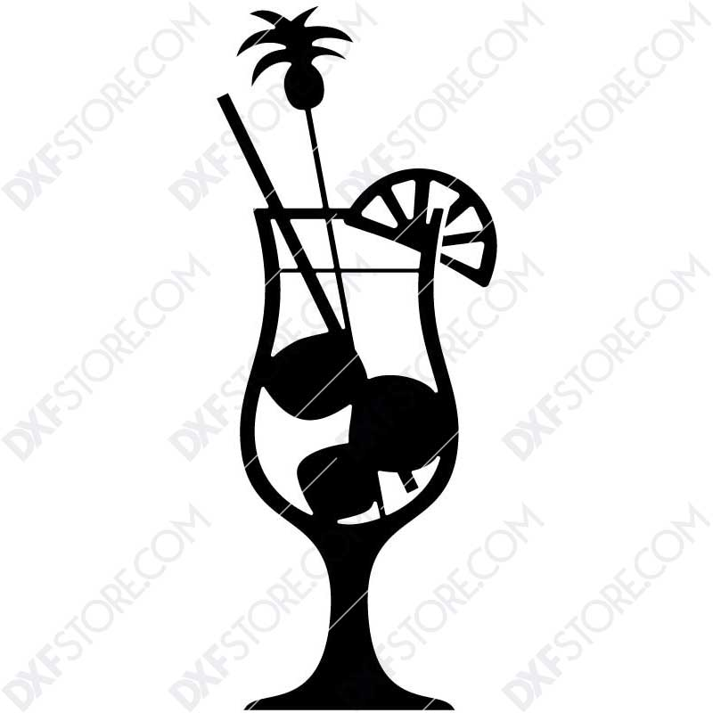 Fruity Cocktail Free DXF File DXF file for Plasma Cutting