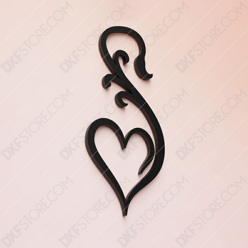 Heart Ornament Free DXF File - DXF File Cut-Ready for CNC
