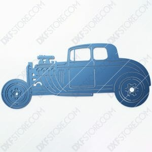 Hot Rod Car Old Classic Hot Rod Car DXF File SVG File Cut-Ready for CNC Plasma and Laser Cut