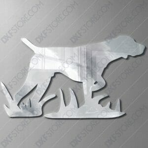 Hunting Dog Free DXF File For Laser Cutter