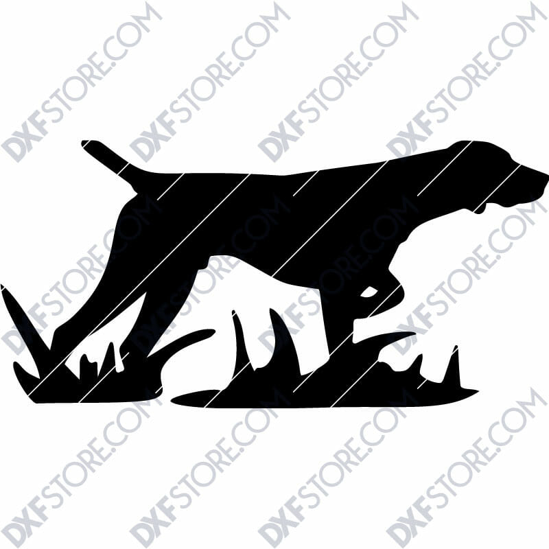 Hunting Dog Free DXF File For Laser Cutting