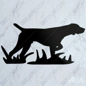 Hunting Dog Free DXF File For Waterjet CNC Cutting