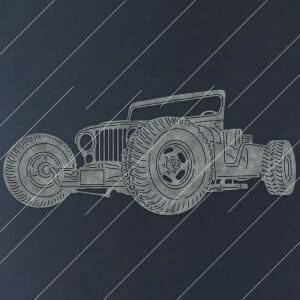 Jeep Hot Rod Car Downloadable DXF for CNC Plasma DXF Files Download