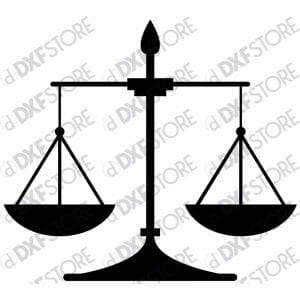 Justice Weighing Scale - Free DXF File