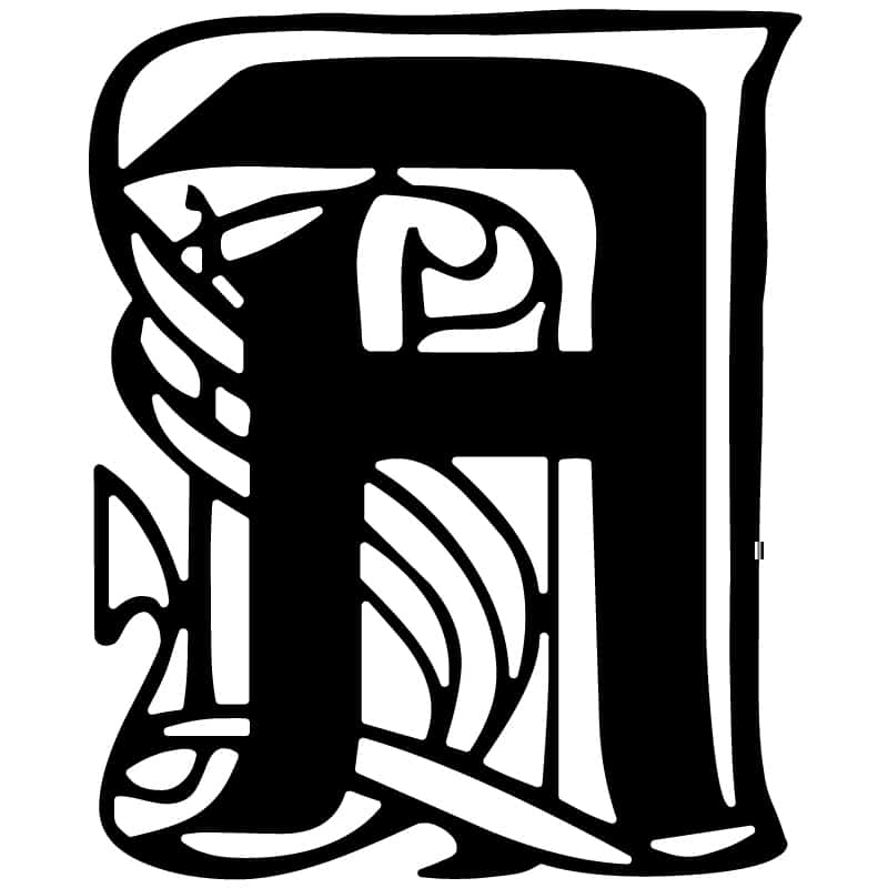 Decorative Letter A.Decorative Letter A Dxf File Dxf File Cut Ready For Cnc
