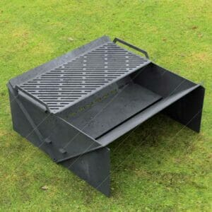 "Minimal Collapsible Fire Pit With Custom Modern Grate Custom Order Fire Pit 30""X30X12 For Laser Cutter"