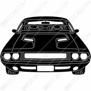 Muscle Car Classic 1970 Dodge Challenger Cut-Ready DXF File for CNC Plasma Cut