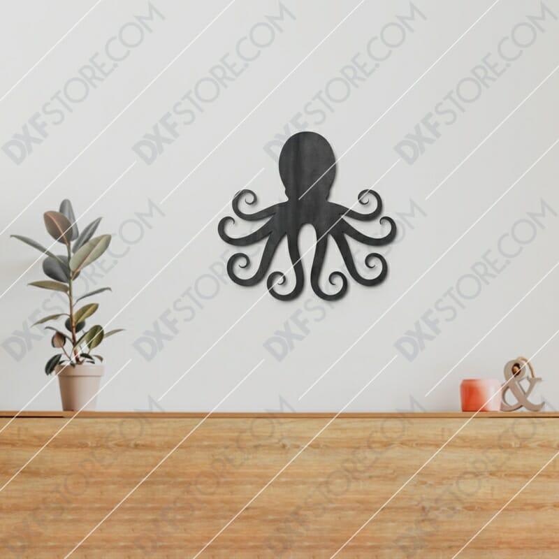 Octopus Free DXF File CNC Plasma Cut CNC File